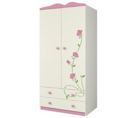 Шкаф Розалия Ш90-2Д1Шкафы одежные<br>Вместительный шкаф для одежды из МДФ. Внутри слева пять полок для одежды, справа место для вешалок и два ящика внизу. Отлично подойдет для хранения вещей, а приятный дизайн и рисунок в виде цветов будут радовать взгляд. <br> <br>  <br> <br> <br> <br>   <br>     <br>       <br>         <br>           <br>             <br>               <br>                 <br>                   <br>                    Материал фасада: МДФ-16 Kronospan Szczecinek (Польша), ПВХ Imawell (Германия), краска Sayerlack (Италия).<br>                   <br>                    Материал корпуса: ДСП-16/25 Kronospan Szczecinek (Польша).<br>                   <br>                       Кромка ПВХ 2.0 мм. <br>                  Материал фурнитуры: Hettich (Германия), Gamet, Patrex (Польша).<br>                 <br>                  Материал направляющих: Quadro–Hettich (Германия).<br><br>Ширина: 89 см<br>Глубина: 62 см<br>Высота: 182 см<br>Материал: МДФ, ДСП, ПВХ<br>Цвет: крем (розалия)