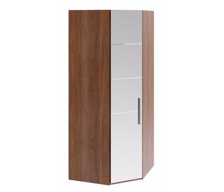 Шкаф угловой  Вирджиния СМ-233.07.07 L дверь влево с зеркалом орех вирджинияШкафы<br>Ширина и глубина шкафа обозначают стороны прилегающие к стене.<br>