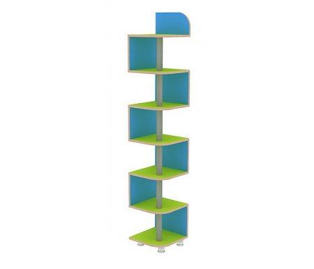 Стеллаж Маугли-ЛианаСтеллажи<br>Стеллаж Маугли-Лианавыполнен из ЛДСП (толщина 16 мм и 25 мм), покрытой ПВХ кромкой (0,4 мм и 1,0 мм). У данной модели нет острых углов, что обезопасит детей от ушибов. Ножки регулируются по высоте. <br> <br>  <br> <br> <br> <br>   <br>    Поставляется в разобранном виде - 1 упаковка.<br><br>Ширина: 35 см<br>Глубина: 35 см<br>Высота: 200 см<br>Материал: ЛДСП, ПВХ кромка<br>Цвет: дуб млечный / голубой / салатовый, дуб млечный / оранжевый / салатовый<br>Объем упаковки: 0,033 куб. м<br>Вес: 25 кг