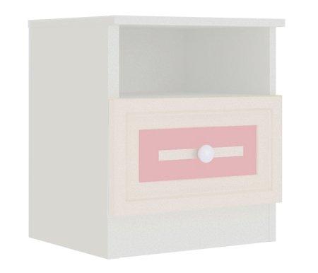 Тумба прикроватная АлисаТумбы<br>Фасад ящика декорирован классической фрезеровкой с нежно-розовой патиной.<br>