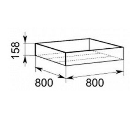 Прикроватный контейнер к кровати 10 Браво 09 от ЛайфМебель