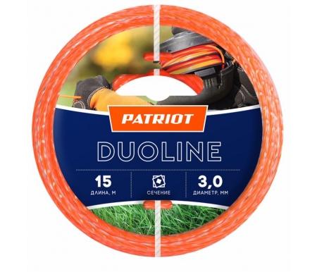 Купить Леска для триммеров Patriot, Duoline D 3, 0 мм L 15 м