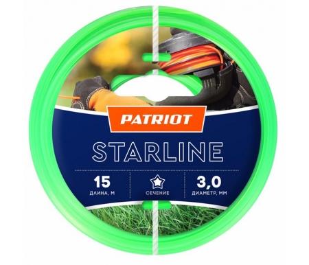 Купить Леска для триммеров Patriot, Starline D 3, 0 мм L 15 м