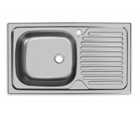 Мойка врезная CLM760.435-GT5K 2 L матовый металлМойки<br>Кухонная врезная прямоугольная мойка из нержавеющей стали с большой чашей слева и классическим прямым рисунком крыла. Чаша снаружи покрыта шумопоглащающей пленкой. В верхней части чаши предусмотрен перелив для воды. <br> <br>  <br> <br> Размер чаши (Ш х Г): 37,5 см х34 см.<br>Глубина чаши: 14 см.<br> <br>Размер выпуска: большой (3 ?'').<br> <br>Толщина металла: 0,5 мм.<br> <br>Арматура: СКБПГ или S701.<br> <br>Комплектация: крепежи, уплотнительная лента.<br>
