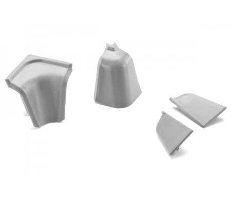 Заглушки для плинтусаПлинтусы<br>В комплекте 2 торцевые заглушки и 1 угловая внутренняя.<br>