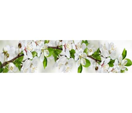 Купить Фартук для кухни Bravomebel, Цветущий сад толщиной 3 мм и шириной 244 см, ХДФ