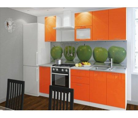 Готовая кухня Валерия-М комплектация 2 каркас белый, фасад оранжевый глянецПрямые кухни<br>Фасады: 16 мм.<br>   <br>     <br>        <br>       <br>   <br>    1. Шкаф верхний (каркас В 300 + фасад Ф-10).<br>   <br>     <br>      Габаритные размеры (Ш x Г x В): 30 см х 32 см х 72 см.<br>     <br>      В комплект входит 1 полка.<br>     <br>      Направление открытия двери: универсальное.<br>     <br>       <br>        <br>       <br>     <br>      2. Шкаф верхний горизонтальный (каркас ВГ 500 + фасад Ф-83).<br>     <br>      Габаритные размеры (Ш x Г x В): 50 см x 32 см x 35,8 см.<br>     <br>      Направление открытия двери: вверх.<br>     <br>       <br>        <br>       <br>     <br>      3.Шкаф верхний горизонтальный со стеклом (каркас ВГ 500 + фасад Ф-84).<br>     <br>      Габаритные размеры (Ш x Г x В): 50 см x 32 см x 35,8 см.<br>     <br>      Направление открытия двери: вверх.<br>     <br>       <br>        <br>       <br>     <br>      4.Шкаф верхний(каркас В 800 + фасад Ф-50).<br>     <br>      Габаритные размеры (Ш x Г x В): 80 см x 32 см x 72 см.<br>     <br>      В комплект входит 1 полка.<br>     <br>       <br>        <br>       <br>     <br>      5. Нижний шкаф (Каркас Н 300 + фасад Ф-10).<br>     <br>      Габаритные размеры (Ш x Г x В): 30 см х 48 см х 85 см.<br>     <br>       В комплект входит 1 полка. <br>     <br>       <br>        <br>       <br>     <br>      6. Нижний шкаф с тремя ящиками (каркас Н 503 + фасад Ф-33).<br>     <br>      Габаритные размеры (Ш x Г x В): 50 см х 48 см х 85 см.<br>     <br>       <br>        <br>       <br>     <br>      7. Нижний шкаф для мойки (каркас НМ 800 + фасад Ф-50).<br>     <br>      Габаритные размеры (Ш x Г x В): 80 см х 48 см х 85 см.<br>     <br>      Шкаф для мойки предполагает накладную раковину.<br>     <br>       <br>        <br>       <br>     <br>       <br>         <br>          Габаритная высота указана с учетом рекомендуемого расстояния(60 см)между верхними и нижними ящиками. Ширина гарниту