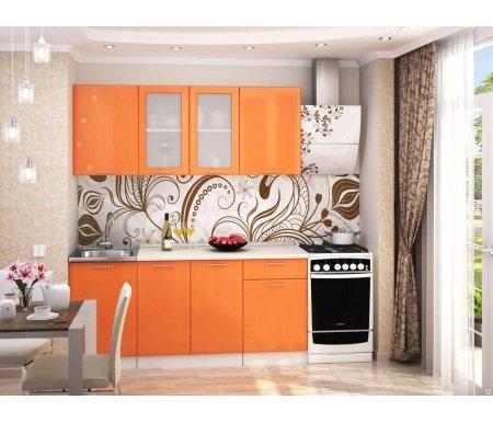 Готовая кухня Валерия-М комплектация 5 каркас белый, фасад оранжевый глянецПрямые кухни<br>Фасады: 16 мм.<br>   <br>     <br>        <br>       <br>   <br>    1, 3. Шкаф верхний (каркас В 500 + фасад Ф-30).<br>   <br>     <br>      Габаритные размеры (Ш x Г x В): 50 см х 32 см х 72 см.<br>     <br>      В комплект входит 1 полка.<br>     <br>      Направление открытия двери: универсальное.<br>     <br>       <br>        <br>       <br>     <br>      2. Шкаф верхний со стеклянными дверями (каркас В 800 + фасад Ф-55).<br>     <br>      Габаритные размеры (Ш x Г x В): 80 см x 32 см x 72 см.<br>     <br>       В комплект входит 1 полка. <br>     <br>       <br>        <br>       <br>     <br>      4.Нижний шкаф под накладную мойку (Каркас НМ 500 + фасад Ф-30).<br>     <br>      Габаритные размеры (Ш x Г x В): 50 см х 48 см х 85 см.<br>     <br>       <br>        <br>       <br>     <br>      5. Нижний шкаф с двумя дверями (каркас Н 800 + фасад Ф-50).<br>     <br>      Габаритные размеры (Ш x Г x В): 80 см х 48 см х 85 см.<br>     <br>      В комплект входит 1 полка.<br>     <br>       <br>        <br>       <br>     <br>      6. Нижний шкаф с одним ящиком (каркас Н 501 + фасад Ф-31).<br>     <br>      Габаритные размеры (Ш x Г x В): 50 см х 48 см х 85 см.<br>     <br>       <br>        <br>       <br>     <br>      Габаритная высота указана с учетом рекомендуемого расстояния(60 см)между верхними и нижними ящиками. Ширина гарнитура указана без учета расстояния для установки плиты (60 см) справа и расстояния для установки вытяжки (60 см). <br>         <br>          <br>         <br>       <br>        К гарнитуру предполагается единая столешница СТ-1400.<br>       <br>     <br>       <br>        <br>       <br>     <br>       <br>         <br>          Приобретаются отдельно:<br>         <br>           <br>            <br>           <br>         <br>          Столешницы толщиной 38 мм:<br>         <br>          1. Столешница 1400 мм.<br>         <br>          Необходимо об