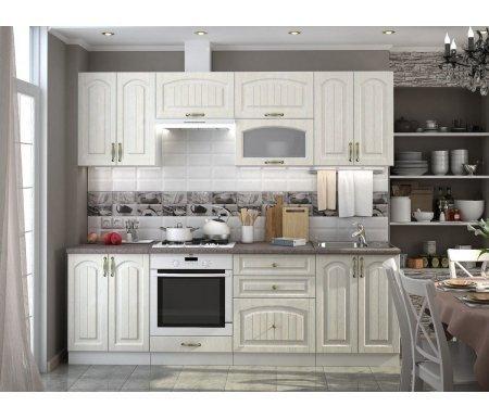 Готовая кухня Верона комплектация 2 каркас белый, фасад ясень золотоПрямые кухни<br>Фасады: 16 мм.<br>   <br>     <br>        <br>       <br>   <br>     <br>      1, 5. Шкаф верхний с двумя дверями (каркас В 600 + фасад Ф-40).<br>     <br>      Габаритные размеры (Ш х Г х В): 60 см х 32 см х 72 см.<br>     <br>      В комплект входит 1 полка.<br>     <br>       <br>        <br>       <br>     <br>       <br>        2, 3. Шкаф верхний горизонтальный (каркас ВГ 600 + фасад Ф-85).<br>       <br>        Габаритные размеры (Ш х Г х В): 60 см х 32 см х 35,8 см.<br>       <br>        Открывание двери: наверх.<br>       <br>     <br>       <br>          <br>         <br>     <br>      4.Шкаф верхний горизонтальный со стеклянной дверью (каркас ВГ 600 + фасад Ф-86).<br>     <br>       <br>        Габаритные размеры (Ш х Г х В): 60 см х 32 см х 35,8 см.<br>       <br>        Открывание двери: наверх.<br>       <br>     <br>       <br>          <br>         <br>     <br>      6.Шкаф нижний с двумя дверями (каркас Н 600 + Ф-40).<br>     <br>      Габаритные размеры (Ш х Г х В): 60 см х 48 см х 85 см.<br>     <br>      В комплект входит 1 полка.<br>     <br>       <br>          <br>         <br>     <br>      7.Шкаф нижний для духовки (каркас НД 600 + фасад Ф-81).<br>     <br>      Габаритные размеры (Ш х Г х В): 60 см х 48 см х 85 см.<br>     <br>       <br>        <br>       <br>     <br>      8. Шкаф нижний с тремя ящиками (каркас Н 603 + фасад Ф-43).<br>     <br>      Габаритные размеры (Ш х Г х В): 60 см х 48 см х 85 см.<br>     <br>       <br>        <br>       <br>     <br>      9. Шкаф нижний для мойки (каркас НМ 600 + фасад Ф-40).<br>     <br>      Габаритные размеры (Ш х Г х В): 60 см х 48 см х 85 см.<br>     <br>       <br>        <br>       <br>     <br>      Габаритная высота указана с учетом рекомендуемого расстояния (60 см) между верхними и нижними ящиками. Габаритная глубина указана без учета столешницы, которая приобретается отдельно.<br>     <br>      На модули 