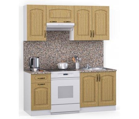 Кухонный гарнитур Лиана флорида 160 см белый / венге светлый рифленый (43301) / гранитПрямые кухни<br>Покрытие столешницы: пластик.<br> <br>  Высота верхних шкафов: 72 см.<br> <br>  Глубина верхних шкафов:30 см.<br> <br>  Высота нижних шкафов:85 см.<br> <br>  Глубина нижних шкафов:60 см.<br> <br>  Высота цоколя:10 см.<br> <br>  Размеры упаковки: 220 см х 165 см х 20 см.<br> <br>  Количество упаковок: 5.<br> <br>   <br>      <br>     <br> <br>  Комплектующие:<br> <br>   <br>      <br>     <br> <br>   <br>    1. Шкаф напольный со столешницей<br>   <br>    Габаритные размеры (В x Ш x Г): 85 см х 40 см х 60 см.<br>   <br>     <br>      <br>     <br>   <br>    2. Шкаф напольный под мойку со столешницей (без полок, без задней стенки)<br>   <br>    Габаритные размеры (В x Ш x Г): 85 см х 60 см х 60 см.<br>   <br>     <br>      <br>     <br>   <br>    3. Шкаф навесной<br>   <br>    Габаритные размеры (В x Ш x Г): 72 см х 40 см х 30 см.<br>   <br>     <br>      <br>     <br>   <br>    4. Шкаф навесной под вытяжку<br>   <br>    Габаритные размеры (В x Ш x Г): 36 см х 60 см х 30 см.<br>   <br>     <br>        <br>       <br>   <br>    5. Шкаф навесной под сушку (без полок)<br>   <br>    Габаритные размеры (В x Ш x Г): 72 см х 60 см х 30 см.<br>   <br> <br>   <br>    <br>   <br> <br>  Габаритная высота указана с учетом рекомендуемого (60 см) расстояния между верхними и нижними ящиками.<br><br>  <br>      <br>    <br><br>  <br>    Приобретается отдельно:<br>  <br>    <br>      <br>    <br>  <br>    Аксессуары для столешницы:<br>  <br>    1. Заглушки для плинтуса.<br>  <br>    2. Плинтус длиной 2 метра.<br>  <br>    Плинтус необходимо обрезать до длины 160 см.<br>  <br>    <br>        <br>      <br>  <br>    Стеновая панель:<br>  <br>    1. Стеновая панель гранит толщиной 4 мм шириной 2 метра.<br>  <br>    Пристенную панель необходимо обрезать до длины 160 см.<br>  <br>    2. Торцевая планка для стеновой панели (2 шт.).<br>  <br>    <br>        <br>      <br>  <br>    Мойка:<br> 