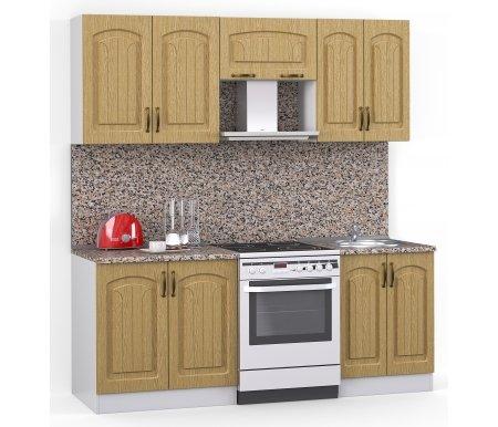 Кухонный гарнитур Лиана флорида 200 см белый / венге светлый рифленый (43301) / гранитПрямые кухни<br>Покрытие столешницы: пластик.<br> <br>  Высота верхних шкафов: 72 см.<br> <br>  Глубина верхних шкафов:30 см.<br> <br>  Высота нижних шкафов:85 см.<br> <br>  Глубина нижних шкафов:60 см.<br> <br>  Высота цоколя:10 см.<br> <br>  Размеры упаковки: 220 см х 165 см х 20 см.<br> <br>  Количество упаковок: 5.<br> <br>   <br>    <br>   <br> <br>  Комплектация:<br> <br>   <br>      <br>     <br> <br>   <br>    1. Шкаф напольный со столешницей<br>   <br>    Габаритные размеры (В x Ш x Г): 85 см х 80 см х 60 см.<br>   <br>     <br>        <br>       <br>   <br>    2. Шкаф напольный под мойку со столешницей (без полок, без задней стенки)<br>   <br>    Габаритные размеры (В x Ш x Г): 85 см х 60 см х 60 см.<br>   <br>     <br>        <br>       <br>   <br>    3. Шкаф навесной<br>   <br>    Габаритные размеры (В x Ш x Г): 72 см х 80 см х 30 см.<br>   <br>     <br>        <br>       <br>   <br>    4. Шкаф навесной под вытяжку<br>   <br>    Габаритные размеры (В x Ш x Г): 36 см х 60 см х 30 см.<br>   <br>     <br>        <br>       <br>   <br>    5. Шкаф навесной под сушку (без полок)<br>   <br>    Габаритные размеры (В x Ш x Г): 72 см х 60 см х 30 см.<br>   <br> <br>   <br>    <br>   <br> <br>  Габаритная высота указана с учетом рекомендуемого (60 см) расстояния между верхними и нижними ящиками.<br><br>  <br>      <br>    <br><br>  <br>    Приобретается отдельно:<br>  <br>    <br>      <br>    <br>  <br>    Аксессуары для столешницы:<br>  <br>    1. Заглушки для плинтуса.<br>  <br>    2. Плинтус длиной 2 метра.<br>  <br>    <br>      <br>    <br>  <br>    Стеновая панель:<br>  <br>    1. Стеновая панель гранит толщиной 4 мм шириной 2 метра.<br>  <br>    2. Торцевая планка для стеновой панели (2 шт.).<br>  <br>    <br>      <br>    <br>  <br>    Мойка:<br>  <br>    1. Мойка врезная круглая диаметром 49 см.<br>  <br>    <br>      <br>    <br>  <br>    Сушка:<br>  <br>    1. Сушилка 