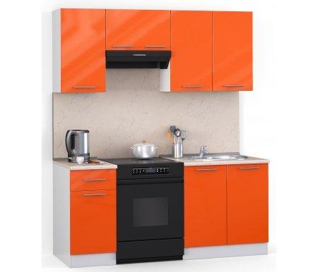 Кухонный гарнитур Лиана хай-тек 160 см белый / оранжевый глянец (3177) / желтый мраморПрямые кухни<br>Покрытие столешницы: пластик.<br> <br>  Высота верхних шкафов: 72 см.<br> <br>  Глубина верхних шкафов:30 см.<br> <br>  Высота нижних шкафов:85 см.<br> <br>  Глубина нижних шкафов:60 см.<br> <br>  Высота цоколя:10 см.<br> <br>  Размеры упаковки: 220 см х 165 см х 20 см.<br> <br>  Количество упаковок: 5.<br> <br>   <br>      <br>     <br> <br>  Комплектующие:<br> <br>   <br>      <br>     <br> <br>   <br>    1. Шкаф напольный со столешницей<br>   <br>    Габаритные размеры (В x Ш x Г): 85 см х 40 см х 60 см.<br>   <br>     <br>      <br>     <br>   <br>    2. Шкаф напольный под мойку со столешницей (без полок, без задней стенки)<br>   <br>    Габаритные размеры (В x Ш x Г): 85 см х 60 см х 60 см.<br>   <br>     <br>      <br>     <br>   <br>    3. Шкаф навесной<br>   <br>    Габаритные размеры (В x Ш x Г): 72 см х 40 см х 30 см.<br>   <br>     <br>      <br>     <br>   <br>    4. Шкаф навесной под вытяжку<br>   <br>    Габаритные размеры (В x Ш x Г): 36 см х 60 см х 30 см.<br>   <br>     <br>        <br>       <br>   <br>    5. Шкаф навесной под сушку (без полок)<br>   <br>    Габаритные размеры (В x Ш x Г): 72 см х 60 см х 30 см.<br>   <br> <br>   <br>    <br>   <br> <br>  Габаритная высота указана с учетом рекомендуемого (60 см) расстояния между верхними и нижними ящиками.<br><br>  <br>        <br>      <br><br>  <br>    Приобретается отдельно:<br>  <br>    <br>          <br>        <br>  <br>    Аксессуары для столешницы:<br>  <br>    1. Заглушки для плинтуса.<br>  <br>    2. Плинтус длиной 2 метра.<br>  <br>    Плинтус необходимо обрезать до длины 160 см.<br>  <br>    <br>        <br>      <br>  <br>    Стеновая панель:<br>  <br>    1. Стеновая панель желтый мрамор толщиной 4 мм шириной 2 метра.<br>  <br>    Пристенную панель необходимо обрезать до длины 160 см.<br>  <br>    2. Торцевая планка для стеновой панели (2 шт.).<br>  <br>    <br>          <br>        <b