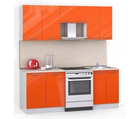 Кухонный гарнитур Лиана хай-тек 200 см белый / оранжевый глянец (3177) / желтый мраморПрямые кухни<br>Покрытие столешницы: пластик.<br> <br>  Высота верхних шкафов: 72 см.<br> <br>  Глубина верхних шкафов:30 см.<br> <br>  Высота нижних шкафов:85 см.<br> <br>  Глубина нижних шкафов:60 см.<br> <br>  Высота цоколя:10 см.<br> <br>  Размеры упаковки: 220 см х 165 см х 20 см.<br> <br>  Количество упаковок: 5.<br> <br>   <br>    <br>   <br> <br>  Комплектация:<br> <br>   <br>      <br>     <br> <br>   <br>    1. Шкаф напольный со столешницей<br>   <br>    Габаритные размеры (В x Ш x Г): 85 см х 80 см х 60 см.<br>   <br>     <br>        <br>       <br>   <br>    2. Шкаф напольный под мойку со столешницей (без полок, без задней стенки)<br>   <br>    Габаритные размеры (В x Ш x Г): 85 см х 60 см х 60 см.<br>   <br>     <br>        <br>       <br>   <br>    3. Шкаф навесной<br>   <br>    Габаритные размеры (В x Ш x Г): 72 см х 80 см х 30 см.<br>   <br>     <br>        <br>       <br>   <br>    4. Шкаф навесной под вытяжку<br>   <br>    Габаритные размеры (В x Ш x Г): 36 см х 60 см х 30 см.<br>   <br>     <br>        <br>       <br>   <br>    5. Шкаф навесной под сушку (без полок)<br>   <br>    Габаритные размеры (В x Ш x Г): 72 см х 60 см х 30 см.<br>   <br> <br>   <br>    <br>   <br> <br>  Габаритная высота указана с учетом рекомендуемого (60 см) расстояния между верхними и нижними ящиками.<br><br>  <br>      <br>    <br><br>  <br>    Приобретается отдельно:<br>  <br>    <br>      <br>    <br>  <br>    Аксессуары для столешницы:<br>  <br>    1. Заглушки для плинтуса.<br>  <br>    2. Плинтус длиной 2 метра.<br>  <br>    <br>      <br>    <br>  <br>    Стеновая панель:<br>  <br>    1. Стеновая панель желтый мрамор толщиной 4 мм шириной 2 метра.<br>  <br>    2. Торцевая планка для стеновой панели (2 шт.).<br>  <br>    <br>      <br>    <br>  <br>    Мойка:<br>  <br>    1. Мойка врезная круглая диаметром 49 см.<br>  <br>    <br>      <br>    <br>  <br>    Сушка:<br>  <br>    1. С