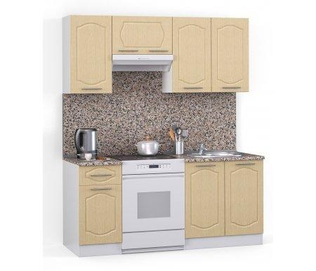 Кухонный гарнитур Лиана классик 160 см белый / лен белый (78293) / гранитПрямые кухни<br>Покрытие столешницы: пластик.<br> <br>  Высота верхних шкафов: 72 см.<br> <br>  Глубина верхних шкафов:30 см.<br> <br>  Высота нижних шкафов:85 см.<br> <br>  Глубина нижних шкафов:60 см.<br> <br>  Высота цоколя:10 см.<br> <br>  Размеры упаковки: 220 см х 165 см х 20 см.<br> <br>  Количество упаковок: 5.<br> <br>   <br>      <br>     <br> <br>  Комплектующие:<br> <br>   <br>      <br>     <br> <br>   <br>    1. Шкаф напольный со столешницей<br>   <br>    Габаритные размеры (В x Ш x Г): 85 см х 40 см х 60 см.<br>   <br>     <br>      <br>     <br>   <br>    2. Шкаф напольный под мойку со столешницей (без полок, без задней стенки)<br>   <br>    Габаритные размеры (В x Ш x Г): 85 см х 60 см х 60 см.<br>   <br>     <br>      <br>     <br>   <br>    3. Шкаф навесной<br>   <br>    Габаритные размеры (В x Ш x Г): 72 см х 40 см х 30 см.<br>   <br>     <br>      <br>     <br>   <br>    4. Шкаф навесной под вытяжку<br>   <br>    Габаритные размеры (В x Ш x Г): 36 см х 60 см х 30 см.<br>   <br>     <br>        <br>       <br>   <br>    5. Шкаф навесной под сушку (без полок)<br>   <br>    Габаритные размеры (В x Ш x Г): 72 см х 60 см х 30 см.<br>   <br> <br>   <br>    <br>   <br> <br>  Габаритная высота указана с учетом рекомендуемого (60 см) расстояния между верхними и нижними ящиками.<br><br>  <br>      <br>    <br><br>  <br>    Приобретается отдельно:<br>  <br>    <br>      <br>    <br>  <br>    Аксессуары для столешницы:<br>  <br>    1. Заглушки для плинтуса.<br>  <br>    2. Плинтус длиной 2 метра.<br>  <br>    Плинтус необходимо обрезать до длины 160 см.<br>  <br>    <br>        <br>      <br>  <br>    Стеновая панель:<br>  <br>    1. Стеновая панель гранит толщиной 4 мм шириной 2 метра.<br>  <br>    Пристенную панель необходимо обрезать до длины 160 см.<br>  <br>    2. Торцевая планка для стеновой панели (2 шт.).<br>  <br>    <br>        <br>      <br>  <br>    Мойка:<br>  <br>    1. М