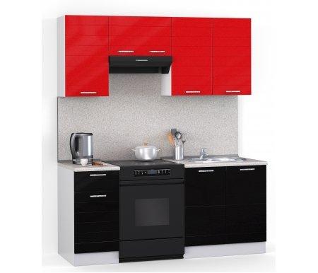 Кухонный гарнитур Лиана лайн 160 см белый / черный металлик (9511), красный металлик (9501) / сахараПрямые кухни<br>Покрытие столешницы: пластик.<br> <br>  Высота верхних шкафов: 72 см.<br> <br>  Глубина верхних шкафов:30 см.<br> <br>  Высота нижних шкафов:85 см.<br> <br>  Глубина нижних шкафов:60 см.<br> <br>  Высота цоколя:10 см.<br> <br>  Размеры упаковки: 220 см х 165 см х 20 см.<br> <br>  Количество упаковок: 5.<br> <br>   <br>      <br>     <br> <br>  Комплектующие:<br> <br>   <br>      <br>     <br> <br>   <br>    1. Шкаф напольный со столешницей<br>   <br>    Габаритные размеры (В x Ш x Г): 85 см х 40 см х 60 см.<br>   <br>     <br>      <br>     <br>   <br>    2. Шкаф напольный под мойку со столешницей (без полок, без задней стенки)<br>   <br>    Габаритные размеры (В x Ш x Г): 85 см х 60 см х 60 см.<br>   <br>     <br>      <br>     <br>   <br>    3. Шкаф навесной<br>   <br>    Габаритные размеры (В x Ш x Г): 72 см х 40 см х 30 см.<br>   <br>     <br>      <br>     <br>   <br>    4. Шкаф навесной под вытяжку<br>   <br>    Габаритные размеры (В x Ш x Г): 36 см х 60 см х 30 см.<br>   <br>     <br>        <br>       <br>   <br>    5. Шкаф навесной под сушку (без полок)<br>   <br>    Габаритные размеры (В x Ш x Г): 72 см х 60 см х 30 см.<br>   <br> <br>   <br>    <br>   <br> <br>  Габаритная высота указана с учетом рекомендуемого (60 см) расстояния между верхними и нижними ящиками.<br><br>  <br>      <br>    <br><br>  <br>    Приобретается отдельно:<br>  <br>    <br>      <br>    <br>  <br>    Аксессуары для столешницы:<br>  <br>    1. Заглушки для плинтуса.<br>  <br>    2. Плинтус длиной 2 метра.<br>  <br>    Плинтус необходимо обрезать до длины 160 см.<br>  <br>    <br>        <br>      <br>  <br>    Стеновая панель:<br>  <br>    1. Стеновая панель сахара толщиной 4 мм шириной 2 метра.<br>  <br>    Пристенную панель необходимо обрезать до длины 160 см.<br>  <br>    2. Торцевая планка для стеновой панели (2 шт.).<br>  <br>    <br>        <br>      <br>  <br> 