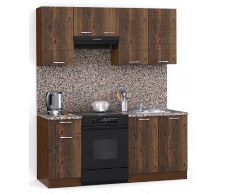 Кухонный гарнитур Лиана лайн 160 см орех / орех светлый (232) / гранитПрямые кухни<br>Покрытие столешницы: пластик.<br> <br>Высота верхних шкафов: 72 см.<br> <br>Глубина верхних шкафов:30 см.<br> <br>Высота нижних шкафов:85 см.<br> <br>Глубина нижних шкафов:60 см.<br> <br>Высота цоколя:10 см.<br> <br>Размеры упаковки: 220 см х 165 см х 20 см.<br> <br>Количество упаковок: 5.<br> <br> <br>    <br>   <br> <br>Комплектующие:<br> <br> <br>    <br>   <br> <br> <br>  1. Шкаф напольный со столешницей<br> <br>  Габаритные размеры (В x Ш x Г): 85 см х 40 см х 60 см.<br> <br>   <br>    <br>   <br> <br>  2. Шкаф напольный под мойку со столешницей (без полок, без задней стенки)<br> <br>  Габаритные размеры (В x Ш x Г): 85 см х 60 см х 60 см.<br> <br>   <br>    <br>   <br> <br>  3. Шкаф навесной<br> <br>  Габаритные размеры (В x Ш x Г): 72 см х 40 см х 30 см.<br> <br>   <br>    <br>   <br> <br>  4. Шкаф навесной под вытяжку<br> <br>  Габаритные размеры (В x Ш x Г): 36 см х 60 см х 30 см.<br> <br>   <br>      <br>     <br> <br>  5. Шкаф навесной под сушку (без полок)<br> <br>  Габаритные размеры (В x Ш x Г): 72 см х 60 см х 30 см.<br> <br> <br> <br>  <br> <br> <br>Габаритная высота указана с учетом рекомендуемого (60 см) расстояния между верхними и нижними ящиками.<br> <br> <br>    <br>   <br> <br> <br>  Приобретается отдельно:<br> <br>   <br>    <br>   <br> <br>  Аксессуары для столешницы:<br> <br>  1. Заглушки для плинтуса.<br> <br>  2. Плинтус длиной 2 метра.<br> <br>  Плинтус необходимо обрезать до длины 160 см.<br> <br>   <br>      <br>     <br> <br>  Стеновая панель:<br> <br>  1. Стеновая панель гранит толщиной 4 мм шириной 2 метра.<br> <br>  Пристенную панель необходимо обрезать до длины 160 см.<br> <br>  2. Торцевая планка для стеновой панели (2 шт.).<br> <br>   <br>      <br>     <br> <br>  Мойка:<br> <br>  1. Мойка врезная круглая диаметром 49 см.<br> <br>   <br>    <br>   <br> <br>  Сушка:<br> <br>  1. Сушилка для стандартной кухонной полки шириной 60 см.<br>