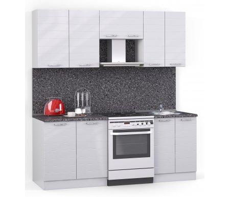 Кухонный гарнитур Лиана лайн 200 см белый / белый глянец (3020) /антрацитПрямые кухни<br>Покрытие столешницы: пластик.<br> <br>  Высота верхних шкафов: 72 см.<br> <br>  Глубина верхних шкафов:30 см.<br> <br>  Высота нижних шкафов:85 см.<br> <br>  Глубина нижних шкафов:60 см.<br> <br>  Высота цоколя:10 см.<br> <br>  Размеры упаковки: 220 см х 165 см х 20 см.<br> <br>  Количество упаковок: 5.<br> <br>   <br>    <br>   <br> <br>  Комплектация:<br> <br>   <br>      <br>     <br> <br>   <br>    1. Шкаф напольный со столешницей<br>   <br>    Габаритные размеры (В x Ш x Г): 85 см х 80 см х 60 см.<br>   <br>     <br>        <br>       <br>   <br>    2. Шкаф напольный под мойку со столешницей (без полок, без задней стенки)<br>   <br>    Габаритные размеры (В x Ш x Г): 85 см х 60 см х 60 см.<br>   <br>     <br>        <br>       <br>   <br>    3. Шкаф навесной<br>   <br>    Габаритные размеры (В x Ш x Г): 72 см х 80 см х 30 см.<br>   <br>     <br>        <br>       <br>   <br>    4. Шкаф навесной под вытяжку<br>   <br>    Габаритные размеры (В x Ш x Г): 36 см х 60 см х 30 см.<br>   <br>     <br>        <br>       <br>   <br>    5. Шкаф навесной под сушку (без полок)<br>   <br>    Габаритные размеры (В x Ш x Г): 72 см х 60 см х 30 см.<br>   <br> <br>   <br>    <br>   <br> <br>  Габаритная высота указана с учетом рекомендуемого (60 см) расстояния между верхними и нижними ящиками.<br><br>  <br>      <br>    <br><br>  <br>    Приобретается отдельно:<br>  <br>    <br>      <br>    <br>  <br>    Аксессуары для столешницы:<br>  <br>    1. Заглушки для плинтуса.<br>  <br>    2. Плинтус длиной 2 метра.<br>  <br>    <br>      <br>    <br>  <br>    Стеновая панель:<br>  <br>    1. Стеновая панель антрацит толщиной 4 мм шириной 2 метра.<br>  <br>    2. Торцевая планка для стеновой панели (2 шт.).<br>  <br>    <br>      <br>    <br>  <br>    Мойка:<br>  <br>    1. Мойка врезная круглая диаметром 49 см.<br>  <br>    <br>      <br>    <br>  <br>    Сушка:<br>  <br>    1. Сушилка для стандар