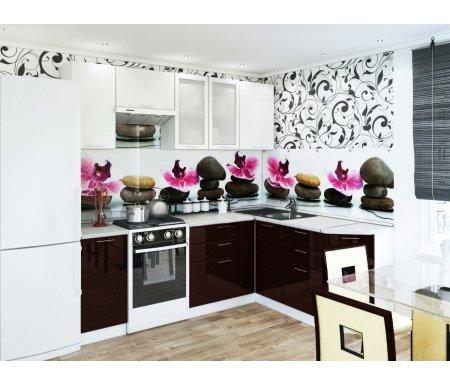 Готовая кухня Валерия-М комплектация 1 каркас белый, фасад белый глянец / венгеУгловые кухни<br>Фасады: 16 мм.<br> <br> Высота правой части кухни: 85 см. <br> <br> <br>  <br> <br> <br>1. Шкаф верхний (каркас В 400 + фасад Ф-20).<br> <br>Габаритные размеры (Ш x Г x В): 40 см х 32 см х 72 см.<br> <br>В комплект входит 1 полка.<br> <br>Направление открытия двери: универсальное.<br> <br> <br>  <br> <br> <br>2. Шкаф верхний горизонтальный (каркас ВГ 600 + фасад Ф-85).<br> <br>Габаритные размеры (Ш x Г x В): 60 см x 32 см x 32 см.<br> <br>Направление открытия двери: вверх.<br> <br> <br>  <br> <br> <br>3. Шкаф верхний с двумя стеклянными дверями (каркас В 800 + фасад Ф-55).<br> <br>Габаритные размеры (Ш x Г x В): 80 см x 32 см x 72 см.<br> <br>В комплект входит 1 полка.<br> <br> <br>  <br> <br> <br>4. Шкаф верхний (каркас В 600 + фасад Ф-46).<br> <br>Габаритные размеры (Ш x Г x В): 60 см x 32 см x 72 см.<br> <br>В комплект входит 1 полка.<br> <br> <br>  <br> <br> <br>5. Нижний шкаф (Каркас Н 400 + фасад Ф-20).<br> <br>Габаритные размеры (Ш x Г x В): 40 см х 48 см х 85 см.<br> <br>В комплект входит 1 полка.<br> <br> <br>  <br> <br> <br>6. Нижний шкаф с тремя ящиками (каркас Н 803 + фасад Ф-53).<br> <br>Габаритные размеры (Ш x Г x В): 80 см х 48 см х 85 см.<br> <br> <br>  <br> <br> <br>7. Нижний угловой шкаф (каркас НУ 990 + фасад Ф-20).<br> <br>Габаритные размеры (Ш x Г x В): 99 см х 48 см х 85 см.<br> <br>Шкаф предполагает приобретение столешницы и врезной раковины.<br> <br> <br>  <br> <br> <br>8. Нижний шкаф с тремя ящиками (каркас Н 403 + фасад Ф-23).<br> <br>Габаритные размеры (Ш x Г x В): 40 см х 48 см х 85 см.<br> <br> <br>  <br> <br> <br>9. Нижний торцевой шкаф (каркас НТ 300 + фасад Ф-20).<br> <br>Габаритные размеры (Ш x Г x В): 30 см х 56 см х 85 см.<br> <br>В комплект входит 1 полка.<br> <br>Направление угла сборки можно выбирать при сборке, но столешницу нужно покупать определенного угла.<br> <br>Шкаф примыкает в плотную к стене, в отличие от остальных нижних шка