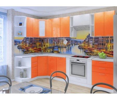 Готовая кухня Валерия-М комплектация 3 каркас белый, фасад оранжевый глянец / белый глянецУгловые кухни<br>Фасады: 16 мм.<br> <br> <br>  <br> <br> <br>1. Полка верхняя угловая (каркас с ВПУ 300).<br> <br>Габаритные размеры (Ш х Г х В): 30 см х 30 см х 72 см.<br> <br> <br>  <br> <br> <br>2, 9. Шкаф верхний (каркас В 600 + фасад Ф-40).<br> <br>Габаритные размеры (Ш х Г х В): 60 см х 32 см х 72 см.<br> <br>В комплект входит 1 полка.<br> <br> <br>  <br> <br> <br>3. Шкаф верхний угловой (каркас ВУ 590 + фасад Ф-25).<br> <br> <br>  Габаритные размеры (Ш х Г х В): 59,2 см х 59,2 см х 72 см.<br> <br>  В комплект входит 1 полка.<br> <br> <br> <br>  <br> <br> <br>4. Шкаф верхний (каркас В 300 + фасад Ф-10).<br> <br> <br>  Габаритные размеры (Ш х Г х В): 30 см х 32 см х 72 см.<br> <br>  В комплект входит 1 полка.<br> <br> <br> <br>  <br> <br> <br>5. Шкаф верхний (каркас В 800 + фасад Ф-50).<br> <br> <br>  Габаритные размеры (Ш х Г х В): 80 см х 32 см х 72 см.<br> <br>  В комплект входит 1 полка.<br> <br> <br> <br>  <br> <br> <br>6, 8. Шкаф верхний бутылочница (каркас ВБ 150).<br> <br>Габаритные размеры (Ш х Г х В): 15 см х 30 см х 72 см.<br> <br> <br>  <br> <br> <br>7. Шкаф верхний горизонтальный (каркас ВГ 600 + Ф-85).<br> <br>Габаритные размеры (Ш х Г х В): 60 см х 32 см х 35,8 см.<br> <br>Открывание двери: вверх.<br> <br> <br>    <br>   <br> <br>10. Шкаф угловой нижний (каркас НПУ 300).<br> <br>Габаритные размеры (Ш х Г х В): 30 см х 54 см х 85 см.<br> <br> В комплект входит 1 полка. <br> <br>Шкаф примыкает в плотную к стене, в отличие от остальных нижних шкафов (при их установке предполагается технологический зазор, столешница примыкает в плотную к стене).<br> <br> <br>  <br> <br> <br>11.Шкаф нижний с тремя ящиками (каркас Н 503 + Ф-33).<br> <br>Габаритные размеры (Ш х Г х В): 50 см х 48 см х 85 см.<br> <br> <br>  <br> <br> <br>12. Шкаф нижний угловой (трапеция) (каркас НУ 890 + фасад Ф-60 ).<br> <br> <br>  Габаритные размеры (Ш х Г х В): 89,2 см х 89,2 см х 85 см.<br> <br