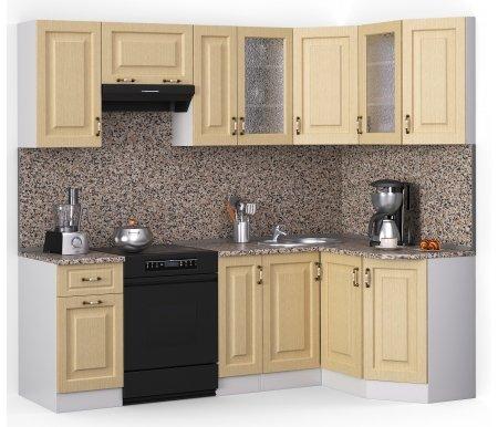 Кухонный гарнитур Лиана декор 230 х 124,3 см белый / лен белый (78293) / гранитУгловые кухни<br>Покрытие столешницы: пластик.<br> <br>Высота верхних шкафов: 72 см.<br> <br>Глубина верхних шкафов: 30 см.<br> <br>Высота нижних шкафов: 85 см.<br> <br>Глубина нижних шкафов: 60 см.<br> <br>Высота цоколя: 10 см.<br> <br>Толщина корпуса: 1,6 см.<br> <br> <br>  <br> <br> <br>Комплектация:<br> <br> <br>  <br> <br> <br>1. Шкаф напольный со столешницей<br> <br>Габаритные размеры (В x Ш x Г): 85 см х 40 см х 60 см.<br> <br> <br>  <br> <br> <br>2. Шкаф напольный со столешницей<br> <br>Габаритные размеры (В x Ш x Г): 85 см х 30 см х 60 см.<br> <br><br>  <br><br> <br>3. Шкаф угловой напольный под мойку со столешницей<br> <br>Габаритные размеры (В x Ш / Ш x Г): 85 см х100 см / 100 см х 60 см.<br> <br> <br>  <br> <br> <br>4. Шкаф скошкнный напольный со столешницей<br> <br>Габаритные размеры (В x Ш x Г): 85 см х 24,3 см х 60 см.<br> <br> <br>  <br> <br> <br>5. Шкаф навесной<br> <br>Габаритные размеры (В x Ш x Г): 72 см х 40 см х 30 см.<br> <br> <br>  <br> <br> <br>6. Шкаф навесной под вытяжку<br> <br>Габаритные размеры (В x Ш x Г): 36 см х 60 см х 30 см.<br> <br> <br>  <br> <br> <br>7. Шкаф навесной<br> <br>Габаритные размеры (В x Ш x Г): 72 см х 30 см х 30 см.<br> <br> <br>  <br> <br> <br>8, 10. Шкаф навесной со стеклом<br> <br>Габаритные размеры (В x Ш x Г): 72 см х 40 см х 30 см.<br> <br> <br>  <br> <br> <br>9. Шкаф угловой навесной под сушку (без полок)<br> <br>Габаритные размеры (В x Ш / Ш x Г): 72 см х 60 см / 60 см х 30 см.<br> <br> <br>  <br> <br> <br>11. Шкаф скошенный навесной<br> <br>Габаритные размеры (В x Ш x Г): 72 см х 43 см х 30 см.<br> <br> <br>  <br> <br> <br> <br>  Габаритная высота указана с учетом рекомендуемого (60 см) расстояния между верхними и нижними ящиками.<br> <br>   <br>    <br>   <br> <br>  Приобретается отдельно:<br> <br>   <br>    <br>   <br> <br>  Аксессуары для столешницы:<br> <br>  1. Заглушки для плинтуса.<br> <br>  2. Плинтус длиной 2 метра.<br> 