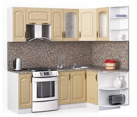 Кухонный гарнитур Лиана флорида 220 x 130 см белый / лен белый (78293) / гранитУгловые кухни<br>Покрытие столешницы: пластик.<br> <br>Высота верхних шкафов: 72 см.<br> <br>Глубина верхних шкафов:30 см.<br> <br>Высота нижних шкафов:85 см.<br> <br>Глубина нижних шкафов:60 см.<br> <br>Высота цоколя:10 см.<br> <br>Толщина корпуса: 1,6 см.<br> <br> Размеры упаковки: 220 см х 355 см х 20 см, 220 см х 355 см х 20 см. <br> <br> <br>  <br> <br> <br> <br>  Комплектация:<br> <br>   <br>    <br>   <br> <br>   <br>    1, 2. Шкаф напольный со столешницей<br>   <br>    Габаритные размеры (В x Ш x Г): 85 см х 30 см х 60 см.<br>   <br>     <br>      <br>     <br>   <br>    3. Шкаф угловой напольный под мойку со столешницей<br>   <br>    Габаритные размеры (В x Ш / Ш x Г): 85 см х 100 см / 100 см х 60 см.<br>   <br>     <br>        <br>       <br>   <br>    4. Шкаф подвесной радиусный со столешницей<br>   <br>    Габаритные размеры (В x Ш x Г): 72 см х 30 см х 60 см.<br>   <br>     <br>      <br>     <br>   <br>    5, 7. Шкаф навесной<br>   <br>    Габаритные размеры (В x Ш x Г): 72 см х 30 см х 30 см.<br>   <br>     <br>      <br>     <br>   <br>    6. Шкаф навесной под вытяжку<br>   <br>    Габаритные размеры (В x Ш x Г): 36 см х 60 см х 30 см.<br>   <br>     <br>      <br>     <br>   <br>    8, 10. Шкаф навесной со стеклом<br>   <br>    Габаритные размеры (В x Ш x Г): 72 см х 40 см х 30 см.<br>   <br>     <br>      <br>     <br>   <br>    9. Шкаф угловой навесной под сушку (без полок)<br>   <br>    Габаритные размеры (В x Ш / Ш x Г): 72 см х 60 см / 60 см х 30 см.<br>   <br>     <br>      <br>     <br>   <br>    11. Шкаф навесной радиусный<br>   <br>    Габаритные размеры (В x Ш x Г): 72 см х 30 см х 30 см.<br>  <br>    <br>      <br>    <br>  <br>    <br>      Габаритная высота указана с учетом рекомендуемого (60 см) расстояния между верхними и нижними ящиками.<br>    <br>      <br>        <br>      <br>    <br>      Приобретается отдельно:<br>    <br>      <br>        <br>      