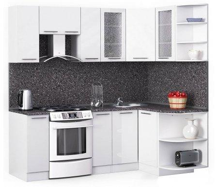 Кухонный гарнитур Лиана хай-тек 220 x 130 см белый / белый глянец (3020) / антрацитУгловые кухни<br>Покрытие столешницы: пластик.<br> <br>Высота верхних шкафов: 72 см.<br> <br>Глубина верхних шкафов:30 см.<br> <br>Высота нижних шкафов:85 см.<br> <br>Глубина нижних шкафов:60 см.<br> <br>Высота цоколя:10 см.<br> <br>Толщина корпуса: 1,6 см.<br> <br> Размеры упаковки: 220 см х 355 см х 20 см, 220 см х 355 см х 20 см. <br> <br> <br>  <br> <br> <br> <br>  Комплектация:<br> <br>   <br>    <br>   <br> <br>   <br>    1, 2. Шкаф напольный со столешницей<br>   <br>    Габаритные размеры (В x Ш x Г): 85 см х 30 см х 60 см.<br>   <br>     <br>      <br>     <br>   <br>    3. Шкаф угловой напольный под мойку со столешницей<br>   <br>    Габаритные размеры (В x Ш / Ш x Г): 85 см х 100 см / 100 см х 60 см.<br>   <br>     <br>        <br>       <br>   <br>    4. Шкаф подвесной радиусный со столешницей<br>   <br>    Габаритные размеры (В x Ш x Г): 72 см х 30 см х 60 см.<br>   <br>     <br>      <br>     <br>   <br>    5, 7. Шкаф навесной<br>   <br>    Габаритные размеры (В x Ш x Г): 72 см х 30 см х 30 см.<br>   <br>     <br>      <br>     <br>   <br>    6. Шкаф навесной под вытяжку<br>   <br>    Габаритные размеры (В x Ш x Г): 36 см х 60 см х 30 см.<br>   <br>     <br>      <br>     <br>   <br>    8, 10. Шкаф навесной со стеклом<br>   <br>    Габаритные размеры (В x Ш x Г): 72 см х 40 см х 30 см.<br>   <br>     <br>      <br>     <br>   <br>    9. Шкаф угловой навесной под сушку (без полок)<br>   <br>    Габаритные размеры (В x Ш / Ш x Г): 72 см х 60 см / 60 см х 30 см.<br>   <br>     <br>      <br>     <br>   <br>    11. Шкаф навесной радиусный<br>   <br>    Габаритные размеры (В x Ш x Г): 72 см х 30 см х 30 см.<br>  <br>    <br>      <br>    <br>  <br>    <br>      Габаритная высота указана с учетом рекомендуемого (60 см) расстояния между верхними и нижними ящиками.<br>    <br>      <br>        <br>      <br>    <br>      Приобретается отдельно:<br>    <br>      <br>        <br>  