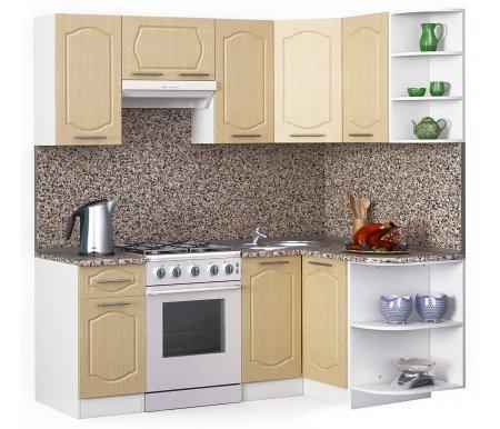 Кухонный гарнитур Лиана классик 200 x 130 см белый / лен белый (78293) / гранитУгловые кухни<br>Покрытие столешницы: пластик.<br> <br>Высота верхних шкафов: 72 см.<br> <br>Глубина верхних шкафов: 30 см.<br> <br>Высота нижних шкафов: 85 см.<br> <br>Глубина нижних шкафов: 60 см.<br> <br>Высота цоколя: 10 см.<br> <br>Толщина корпуса: 1,6 см.<br> <br>Размеры упаковки: 220 см х 355 см х 20 см.<br> <br>Количество упаковок: 9.<br> <br> <br>  <br> <br> <br>Комплектация:<br> <br> <br>  <br> <br> <br>1. Шкаф напольный со столешницей<br> <br>Габаритные размеры (В x Ш x Г): 85 см х 40 см х 60 см.<br> <br> <br>    <br>   <br> <br>2. Шкаф угловой напольный под мойку со столешницей<br> <br>Габаритные размеры (В x Ш / Ш x Г): 85 см х100 см / 100 см х 60 см.<br> <br> <br>    <br>   <br> <br>3. Шкаф подвесной радиусный со столешницей<br> <br>Габаритные размеры (В x Ш x Г): 72 см х 30 см х 60 см.<br> <br> <br>  <br> <br> <br>4, 6, 8. Шкаф навесной<br> <br>Габаритные размеры (В x Ш x Г): 72 см х 40 см х 30 см.<br> <br> <br>  <br> <br> <br>5. Шкаф навесной под вытяжку<br> <br>Габаритные размеры (В x Ш x Г): 36 см х 60 см х 30 см.<br> <br> <br>  <br> <br> <br>7. Шкаф угловой навесной под сушку (без полок)<br> <br>Габаритные размеры (В x Ш / Ш x Г): 72 см х 60 см / 60 см х 30 см.<br> <br> <br>  <br> <br> <br>9. Шкаф навесной радиусный<br> <br>Габаритные размеры (В x Ш x Г): 72 см х 30 см х 30 см.<br><br><br>  <br><br><br><br>  Габаритная высота указана с учетом рекомендуемого (60 см) расстояния между верхними и нижними ящиками.<br><br>  <br>    <br>  <br><br>  Приобретается отдельно:<br><br>  <br>      <br>    <br><br>  Аксессуары для столешницы:<br><br>  1. Заглушки для плинтуса.<br><br>  2. Плинтус длиной 2 метра (2 шт.).<br><br>  Правую часть плинтуса необходимо обрезать до длины 130 см.<br><br>  <br>        <br>      <br><br>  Стеновая панель:<br><br>  1. Стеновая панель гранит толщиной 4 мм шириной 2 метра (2 шт.).<br><br>  Правую часть стеновой панели необходимо обрезать до длины 13