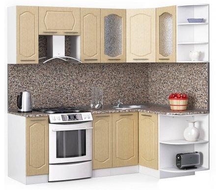 Кухонный гарнитур Лиана классик 220 x 130 см белый / лен белый (78293) / гранитУгловые кухни<br>Покрытие столешницы: пластик.<br> <br>Высота верхних шкафов: 72 см.<br> <br>Глубина верхних шкафов:30 см.<br> <br>Высота нижних шкафов:85 см.<br> <br>Глубина нижних шкафов:60 см.<br> <br>Высота цоколя:10 см.<br> <br>Толщина корпуса: 1,6 см.<br> <br> Размеры упаковки: 220 см х 355 см х 20 см, 220 см х 355 см х 20 см. <br> <br> <br>  <br> <br> <br> <br>  Комплектация:<br> <br>   <br>    <br>   <br> <br>   <br>    1, 2. Шкаф напольный со столешницей<br>   <br>    Габаритные размеры (В x Ш x Г): 85 см х 30 см х 60 см.<br>   <br>     <br>      <br>     <br>   <br>    3. Шкаф угловой напольный под мойку со столешницей<br>   <br>    Габаритные размеры (В x Ш / Ш x Г): 85 см х 100 см / 100 см х 60 см.<br>   <br>     <br>        <br>       <br>   <br>    4. Шкаф подвесной радиусный со столешницей<br>   <br>    Габаритные размеры (В x Ш x Г): 72 см х 30 см х 60 см.<br>   <br>     <br>      <br>     <br>   <br>    5, 7. Шкаф навесной<br>   <br>    Габаритные размеры (В x Ш x Г): 72 см х 30 см х 30 см.<br>   <br>     <br>      <br>     <br>   <br>    6. Шкаф навесной под вытяжку<br>   <br>    Габаритные размеры (В x Ш x Г): 36 см х 60 см х 30 см.<br>   <br>     <br>      <br>     <br>   <br>    8, 10. Шкаф навесной со стеклом<br>   <br>    Габаритные размеры (В x Ш x Г): 72 см х 40 см х 30 см.<br>   <br>     <br>      <br>     <br>   <br>    9. Шкаф угловой навесной под сушку (без полок)<br>   <br>    Габаритные размеры (В x Ш / Ш x Г): 72 см х 60 см / 60 см х 30 см.<br>   <br>     <br>      <br>     <br>   <br>    11. Шкаф навесной радиусный<br>   <br>    Габаритные размеры (В x Ш x Г): 72 см х 30 см х 30 см.<br>  <br>    <br>      <br>    <br>  <br>    <br>      Габаритная высота указана с учетом рекомендуемого (60 см) расстояния между верхними и нижними ящиками.<br>    <br>      <br>        <br>      <br>    <br>      Приобретается отдельно:<br>    <br>      <br>        <br>      