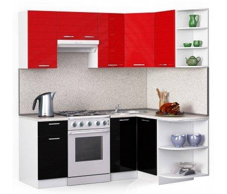Кухонный гарнитур Лиана лайн 200 x 130 см белый / черный (9511),красный металлик (9501) / сахараУгловые кухни<br>Покрытие столешницы: пластик.<br> <br>Высота верхних шкафов: 72 см.<br> <br>Глубина верхних шкафов:30 см.<br> <br>Высота нижних шкафов:85 см.<br> <br>Глубина нижних шкафов:60 см.<br> <br>Высота цоколя:10 см.<br> <br>Толщина корпуса: 1,6 см.<br> <br> Размеры упаковки: 220 см х 355 см х 20 см. <br> <br> Количество упаковок: 9. <br> <br> <br>  <br> <br> <br> <br>  Комплектация:<br> <br>   <br>      <br>     <br> <br>  1. Шкаф напольный со столешницей<br> <br>  Габаритные размеры (Ш x Г x В): 85 см х 40 см х 60 см.<br> <br>   <br>    <br>   <br> <br>  2. Шкаф угловой напольный под мойку со столешницей<br> <br>  Габаритные размеры (Ш x Г x В): 85 см х100 см / 100 см х 60 см.<br> <br>   <br>    <br>   <br> <br>  3. Шкаф подвесной радиусный со столешницей<br> <br>  Габаритные размеры (Ш x Г x В): 72 см х 30 см х 60 см.<br> <br>   <br>    <br>   <br> <br>  4, 6, 8. Шкаф навесной<br> <br>  Габаритные размеры (Ш x Г x В): 72 см х 40 см х 30 см.<br> <br>   <br>    <br>   <br> <br>  5. Шкаф навесной под вытяжку<br> <br>  Габаритные размеры (Ш x Г x В): 36 см х 60 см х 30 см.<br> <br>   <br>    <br>   <br> <br>  7. Шкаф угловой навесной под сушку (без полок)<br> <br>  Габаритные размеры (Ш x Г x В): 72 см х 60 см / 60 см х 30 см.<br> <br>   <br>    <br>   <br> <br>  9. Шкаф навесной радиусный<br> <br>  Габаритные размеры (Ш x Г x В): 72 см х 30 см х 30 см.<br><br>  <br>    <br>  <br><br>  <br>    Габаритная высота указана с учетом рекомендуемого (60 см) расстояния между верхними и нижними ящиками.<br>  <br>    <br>      <br>    <br>  <br>    Приобретается отдельно:<br>  <br>    <br>        <br>      <br>  <br>    Аксессуары для столешницы:<br>  <br>    1. Заглушки для плинтуса.<br>  <br>    2. Плинтус длиной 2 метра (2 шт.).<br>  <br>    Правую часть плинтуса необходимо обрезать до длины 130 см.<br>  <br>    <br>          <br>        <br>  <br>    Стеновая панель:<br>