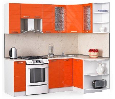 Кухонный гарнитур Лиана лайн 220 x 130 см орех / белый / оранжевый глянец (3177) / желтый мраморУгловые кухни<br>Покрытие столешницы: пластик.<br> <br>Высота верхних шкафов: 72 см.<br> <br>Глубина верхних шкафов:30 см.<br> <br>Высота нижних шкафов:85 см.<br> <br>Глубина нижних шкафов:60 см.<br> <br>Высота цоколя:10 см.<br> <br>Толщина корпуса: 1,6 см.<br> <br> Размеры упаковки: 220 см х 355 см х 20 см, 220 см х 355 см х 20 см. <br> <br> <br>  <br> <br> <br> <br>  Комплектация:<br> <br>   <br>    <br>   <br> <br>   <br>    1, 2. Шкаф напольный со столешницей<br>   <br>    Габаритные размеры (В x Ш x Г): 85 см х 30 см х 60 см.<br>   <br>     <br>      <br>     <br>   <br>    3. Шкаф угловой напольный под мойку со столешницей<br>   <br>    Габаритные размеры (В x Ш / Ш x Г): 85 см х 100 см / 100 см х 60 см.<br>   <br>     <br>        <br>       <br>   <br>    4. Шкаф подвесной радиусный со столешницей<br>   <br>    Габаритные размеры (В x Ш x Г): 72 см х 30 см х 60 см.<br>   <br>     <br>      <br>     <br>   <br>    5, 7. Шкаф навесной<br>   <br>    Габаритные размеры (В x Ш x Г): 72 см х 30 см х 30 см.<br>   <br>     <br>      <br>     <br>   <br>    6. Шкаф навесной под вытяжку<br>   <br>    Габаритные размеры (В x Ш x Г): 36 см х 60 см х 30 см.<br>   <br>     <br>      <br>     <br>   <br>    8, 10. Шкаф навесной со стеклом<br>   <br>    Габаритные размеры (В x Ш x Г): 72 см х 40 см х 30 см.<br>   <br>     <br>      <br>     <br>   <br>    9. Шкаф угловой навесной под сушку (без полок)<br>   <br>    Габаритные размеры (В x Ш / Ш x Г): 72 см х 60 см / 60 см х 30 см.<br>   <br>     <br>      <br>     <br>   <br>    11. Шкаф навесной радиусный<br>   <br>    Габаритные размеры (В x Ш x Г): 72 см х 30 см х 30 см.<br>  <br>    <br>      <br>    <br>  <br>    <br>      Габаритная высота указана с учетом рекомендуемого (60 см) расстояния между верхними и нижними ящиками.<br>    <br>      <br>        <br>      <br>    <br>      Приобретается отдельно:<br>    <br>      <br> 