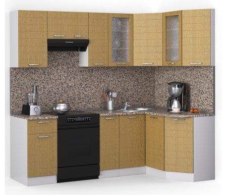 Кухонный гарнитур Лиана лайн 230 х 124,3 см белый / венге светлый рифленый (43301) / гранитУгловые кухни<br>Покрытие столешницы: пластик.<br> <br>Высота верхних шкафов: 72 см.<br> <br>Глубина верхних шкафов: 30 см.<br> <br>Высота нижних шкафов: 85 см.<br> <br>Глубина нижних шкафов: 60 см.<br> <br>Высота цоколя: 10 см.<br> <br>Толщина корпуса: 1,6 см.<br> <br> <br>  <br> <br> <br>Комплектация:<br> <br> <br>  <br> <br> <br>1. Шкаф напольный со столешницей<br> <br>Габаритные размеры (В x Ш x Г): 85 см х 40 см х 60 см.<br> <br> <br>  <br> <br> <br>2. Шкаф напольный со столешницей<br> <br>Габаритные размеры (В x Ш x Г): 85 см х 30 см х 60 см.<br> <br><br>  <br><br> <br>3. Шкаф угловой напольный под мойку со столешницей<br> <br>Габаритные размеры (В x Ш / Ш x Г): 85 см х100 см / 100 см х 60 см.<br> <br> <br>  <br> <br> <br>4. Шкаф скошкнный напольный со столешницей<br> <br>Габаритные размеры (В x Ш x Г): 85 см х 24,3 см х 60 см.<br> <br> <br>  <br> <br> <br>5. Шкаф навесной<br> <br>Габаритные размеры (В x Ш x Г): 72 см х 40 см х 30 см.<br> <br> <br>  <br> <br> <br>6. Шкаф навесной под вытяжку<br> <br>Габаритные размеры (В x Ш x Г): 36 см х 60 см х 30 см.<br> <br> <br>  <br> <br> <br>7. Шкаф навесной<br> <br>Габаритные размеры (В x Ш x Г): 72 см х 30 см х 30 см.<br> <br> <br>  <br> <br> <br>8, 10. Шкаф навесной со стеклом<br> <br>Габаритные размеры (В x Ш x Г): 72 см х 40 см х 30 см.<br> <br> <br>  <br> <br> <br>9. Шкаф угловой навесной под сушку (без полок)<br> <br>Габаритные размеры (В x Ш / Ш x Г): 72 см х 60 см / 60 см х 30 см.<br> <br> <br>  <br> <br> <br>11. Шкаф скошенный навесной<br> <br>Габаритные размеры (В x Ш x Г): 72 см х 43 см х 30 см.<br><br><br>  <br><br><br><br>  Габаритная высота указана с учетом рекомендуемого (60 см) расстояния между верхними и нижними ящиками.<br><br>  <br>    <br>  <br><br>  Приобретается отдельно:<br><br>  <br>    <br>  <br><br>  Аксессуары для столешницы:<br><br>  1. Заглушки для плинтуса.<br><br>  2. Плинтус длиной 2 метра.<br><br>