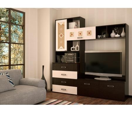 Купить Готовая гостиная БТС-мебель, Белла венге / дуб атланта