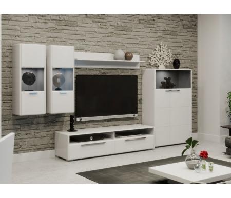 Купить Модульная гостиная Трия, Наоми комплектация 1 белый глянец, Россия