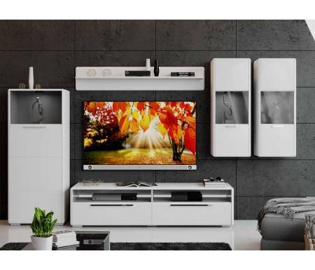 Купить Модульная гостиная Трия, Наоми комплектация 2 белый глянец, Россия