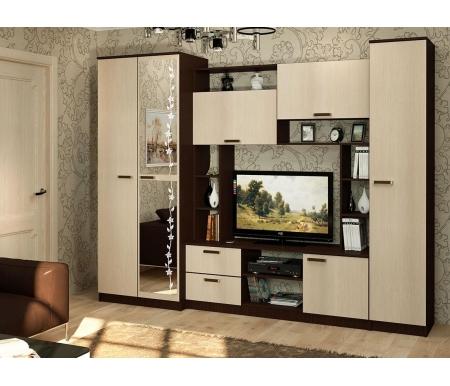 Купить Готовая гостиная БТС-мебель, Флора, венге / лоредо