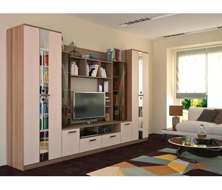 Купить Готовая гостиная БТС-мебель, Венеция, ясень шимо / дуб атланта