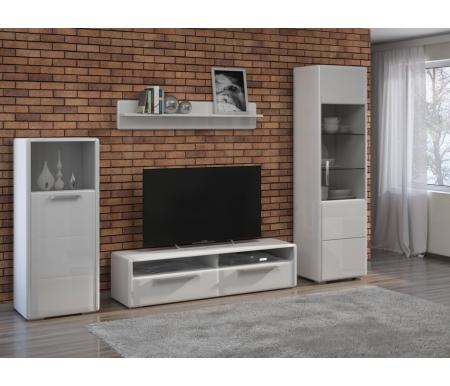 Купить Модульная гостиная Трия, Наоми комплектация 4 белый глянец, Россия