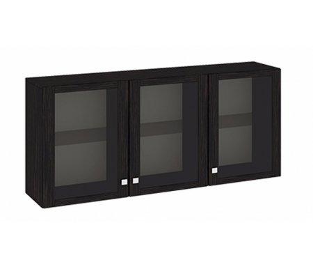 Антресоль большая Фиджи Аб(06)_31(3) венге цавоМодульные навесные шкафы<br>Внутренние полки выполнены из стекла.<br>