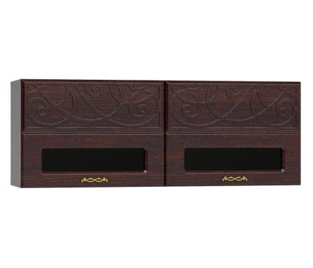 Модульные навесные шкафы Легенда ЛГ-21 венге подлинный / орех шоколадный  Полка Компасс