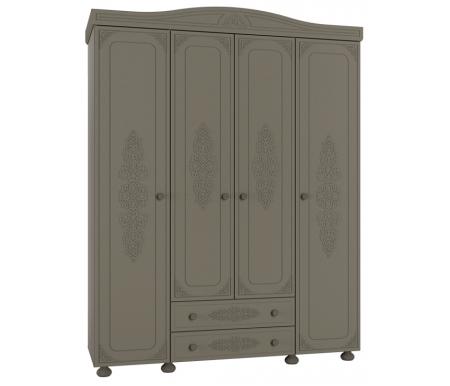 Шкаф комбинированный Ассоль Плюс АС-28 лиственница / грейМодульные распашные шкафы<br>Материал фасада изготовлен изМДФплиты с 3-D узором.<br>