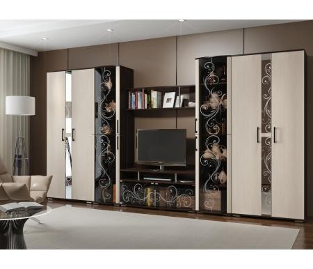 Купить Модульная гостиная БТС-мебель, Флоренция венге / дуб атланта (комплектация 1)