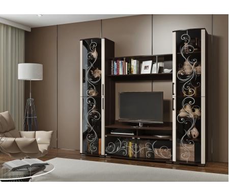 Купить Модульная гостиная БТС-мебель, Флоренция венге / дуб атланта (комплектация 2)