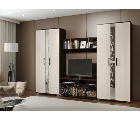 Купить Модульная гостиная БТС-мебель, Флоренция венге / дуб атланта (комплектация 3)