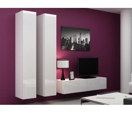 Купить Модульная гостиная Фиеста, Валери 9 (комплектация 2) белый, белый 101