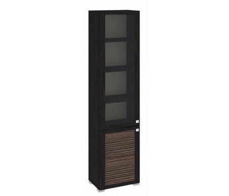 Шкаф комбинированный с 1-ой глухой и 1-ой дверью со стеклом Фиджи ШК(07)_32-21_17 венге цаво / канал дубаМодульные витрины<br><br>