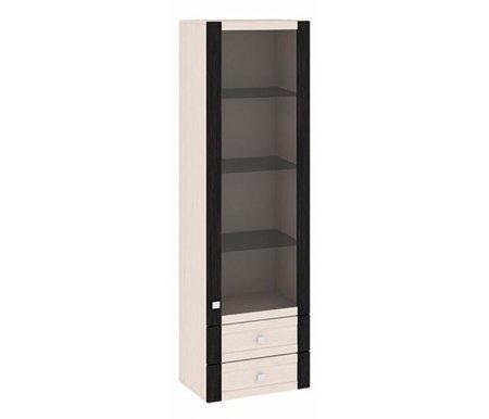 Шкаф-надстройка с 1-ой дверью со стеклом и с 2-мя ящиками Фиджи ШН2я(12)_32-19_18 дуб белфортМодульные витрины<br>Шкаф имеет два выдвижных ящика.<br>    <br>  Стеклянные полки.<br>    <br>  Универсальное направление дверей. Расположение петель определяется при сборке.<br>