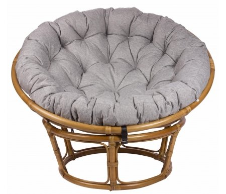 Кресло для отдыха Papasan Chair с подушкой золотой медКресла<br>Высота сиденья: 40 см.<br>
