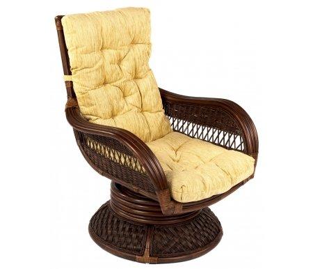 Кресло-качалка Andrea Relax Medium (Андреа Релакс Медиум)Кресла<br>Кресло поставляется с подушкой в кремовом цвете.<br><br>Ширина: 72 см<br>Глубина: 88 см<br>Высота: 95 см<br>Материал каркаса: натуральный ротанг<br>Цвет каркаса: pecan washed (античный орех)<br>Материал обивки подушки: ткань<br>Цвет обивки: кремовый