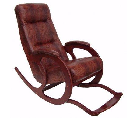 Кресло-качалка Блюз 5Кресла-качалки<br>Кресло-качалка Блюз 5 - это удобная модель, которая прекрасно впишется в интерьер квартиры.<br> <br>Оснащено съемной подножкой.<br> <br>Прочный деревянный каркас может выдержать нагрузку до 120 кг.<br> <br>Мягкие подлокотники придают модели еще больше комфорта.<br><br>Ширина сиденья: 50 см<br>Ширина: 63 см<br>Глубина сиденья: 50 см<br>Глубина: 140 см<br>Высота сиденья: 35 см<br>Высота: 90 см<br>Материал каркаса: массив дерева<br>Цвет каркаса: орех, темный орех, махагон<br>Материал обивки: экокожа