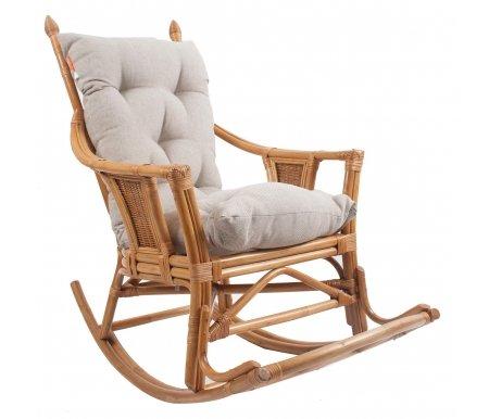 Кресло-качалка Chita с подушкойКресла-качалки<br>Кресло-качалка Chita с подушкой - это удобная, классическая модель, изготовленная из экологически чистых материалов.<br> <br> Подушка входит в стоимость. <br> <br>Каркас выдерживает нагрузку - 120 кг.<br><br>Ширина сиденья: 50 см<br>Ширина: 72 см<br>Глубина сиденья: 50 см<br>Глубина: 110 см<br>Высота сиденья: 48 см<br>Высота: 110 см<br>Материал каркаса: ротанг<br>Цвет каркаса: орех, коньяк, золотой мед<br>Материал обивки: рогожка<br>Цвет обивки: серо-бежевый